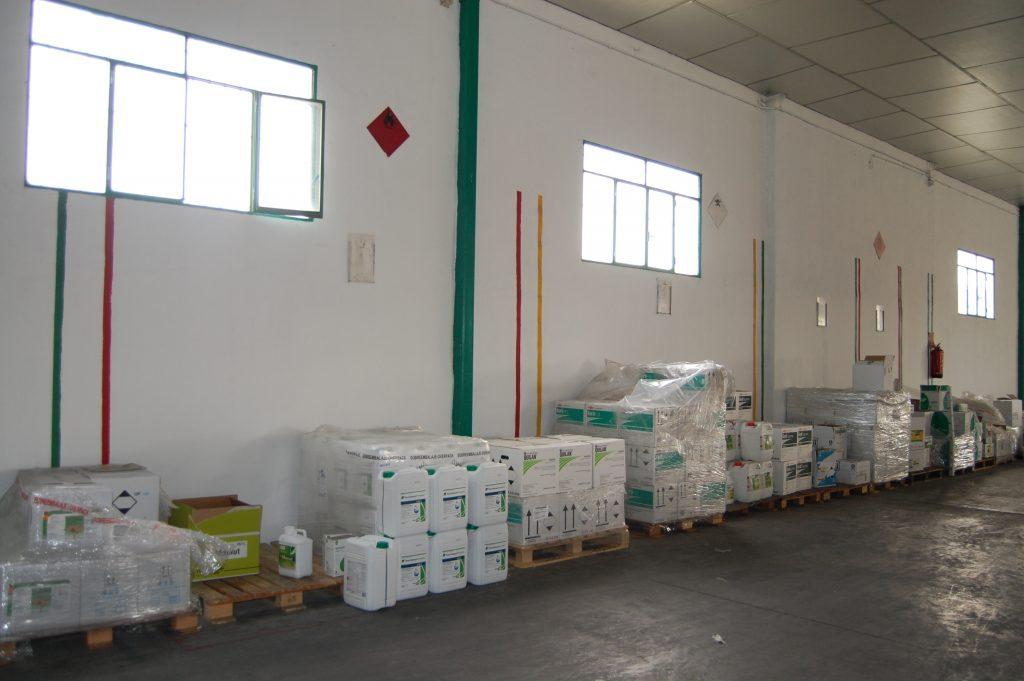 almacenamiento productos químicos